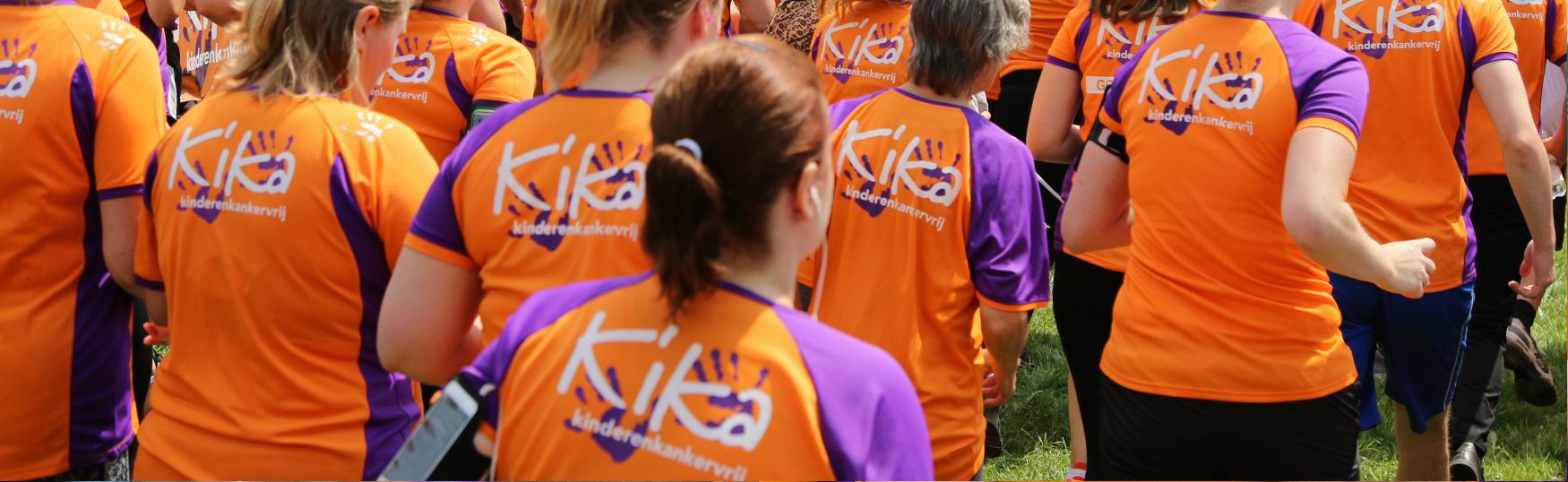 Hardlopers rennen samen voor het goede doel Stichting Kinderen Kankervrij (KiKa) bij Run for KiKa.