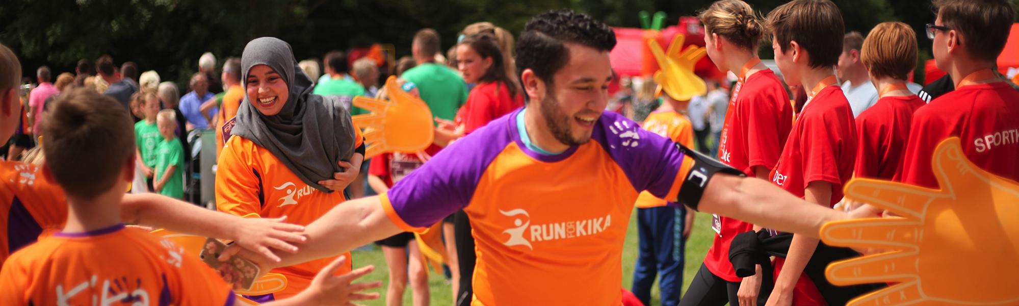 Foto van hardlopers bij Run for KiKa Utrecht 2019.