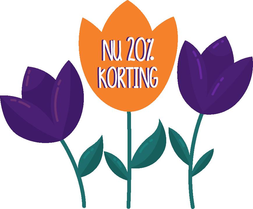 Afbeelding van KiKa bloemen: Lentekriebel Korting. Schrijf je nu in voor Run for KiKa met 25% korting!