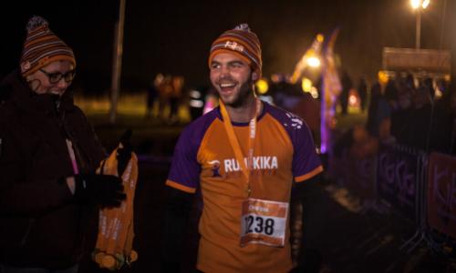 Deelnemers staan klaar voor de 5 km run.