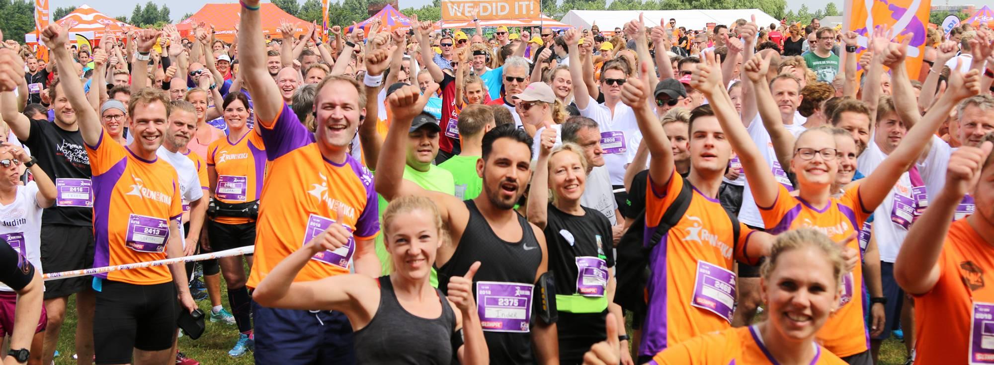 Hardlopers tijdens Run for KiKa rennen voor het goede doel